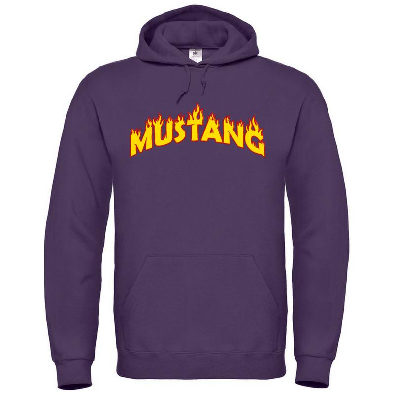 Mustang Sweat Shirt Hoodie Radiant Purple Unisex