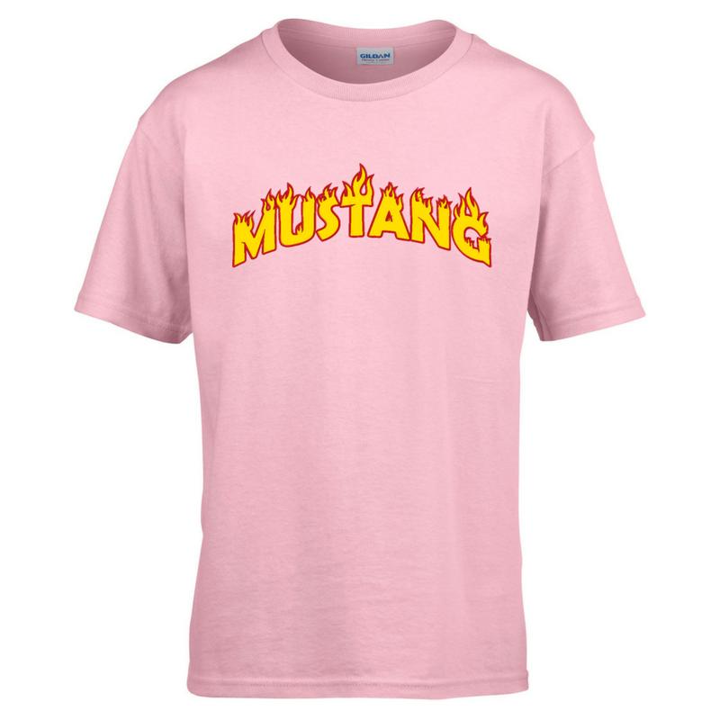 Mustang Tee Shirt Light Pink Kids