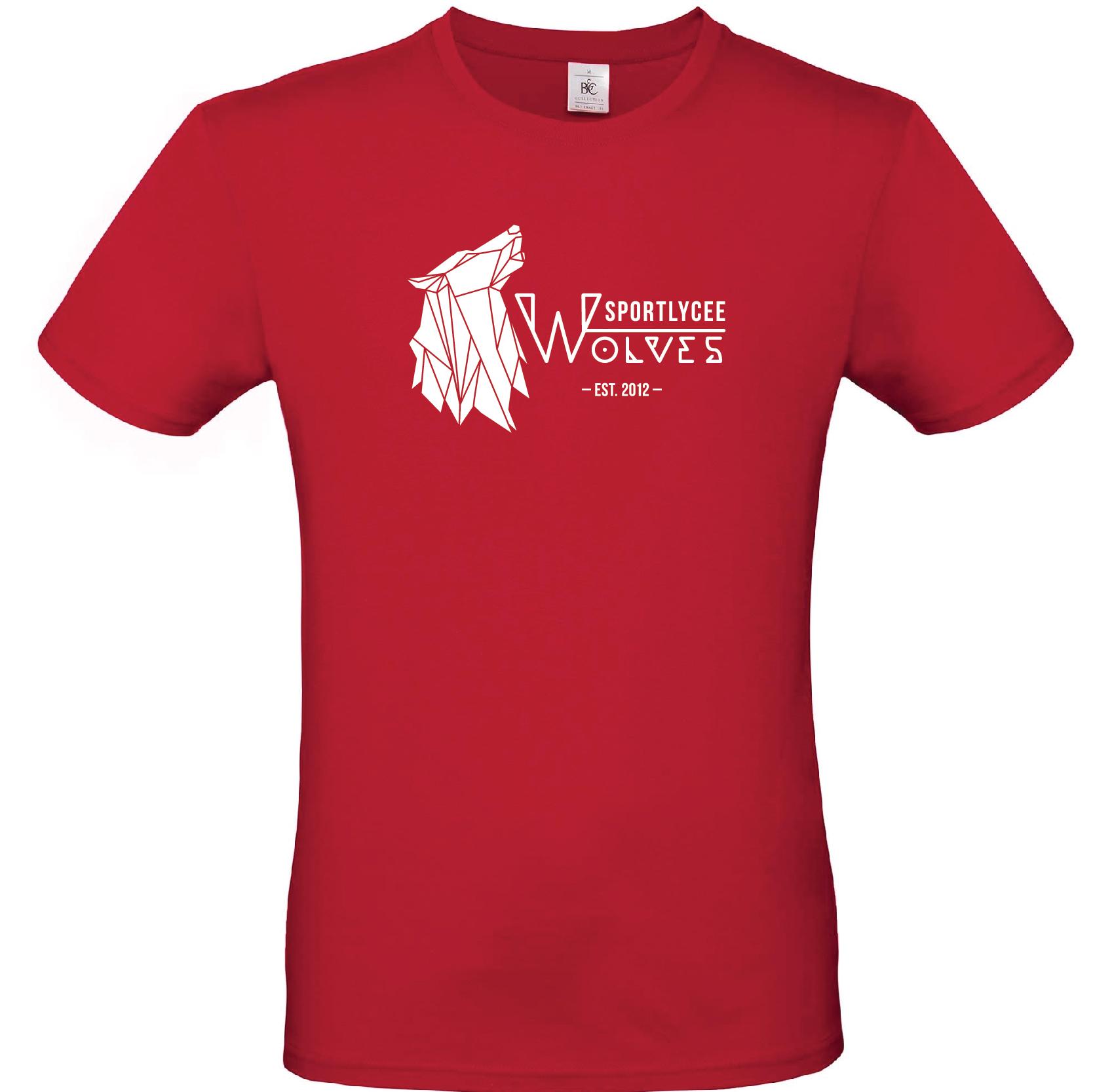 Red Wolves T-Shirt   Sportlycée Lëtzebuerg